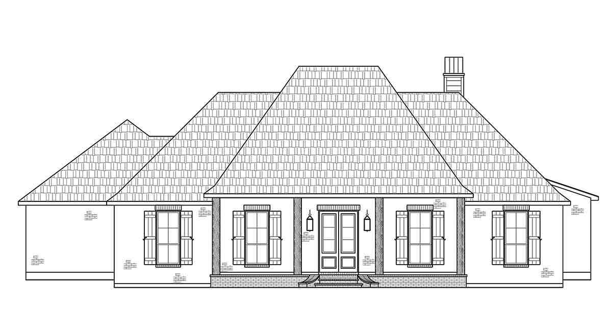 Acadian, French Country, Southern House Plan 41432 with 4 Beds, 3 Baths, 2 Car Garage Picture 1