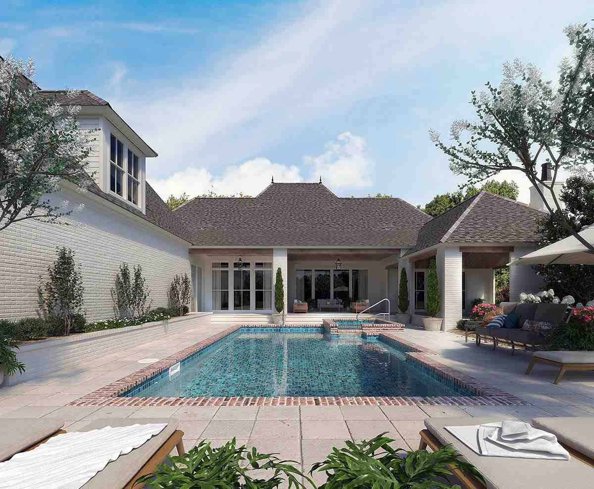 Acadian, French Country, Southern House Plan 41441 with 4 Beds, 4 Baths, 3 Car Garage Picture 1