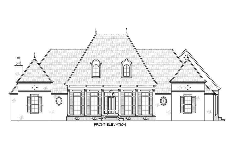 Acadian, French Country, Southern House Plan 41441 with 4 Beds, 4 Baths, 3 Car Garage Picture 2