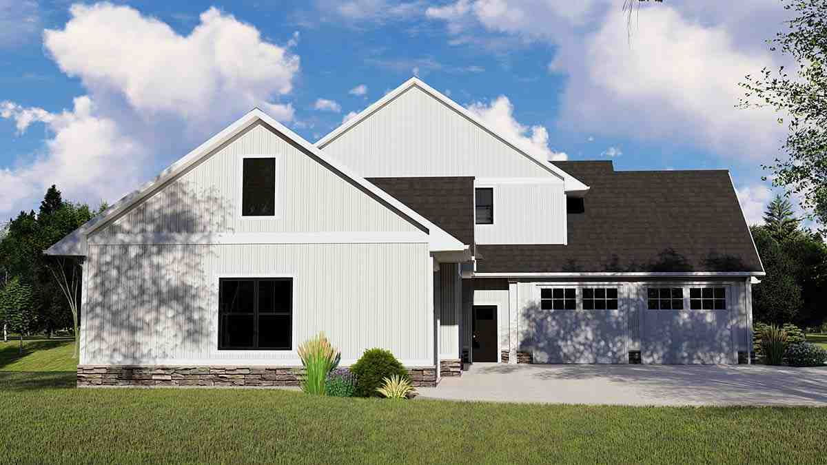 Cottage, Country, Craftsman House Plan 41812 with 4 Beds, 5 Baths, 3 Car Garage Picture 2
