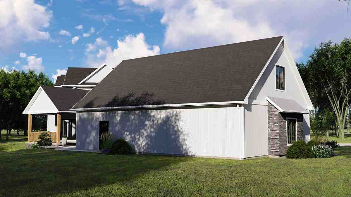 Country, Craftsman, Farmhouse House Plan 41813 with 3 Beds, 4 Baths, 3 Car Garage Picture 2