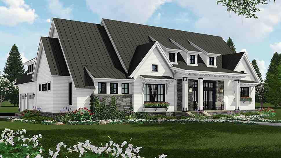 Country, Farmhouse, Traditional House Plan 42691 with 3 Beds, 3 Baths, 2 Car Garage Picture 2