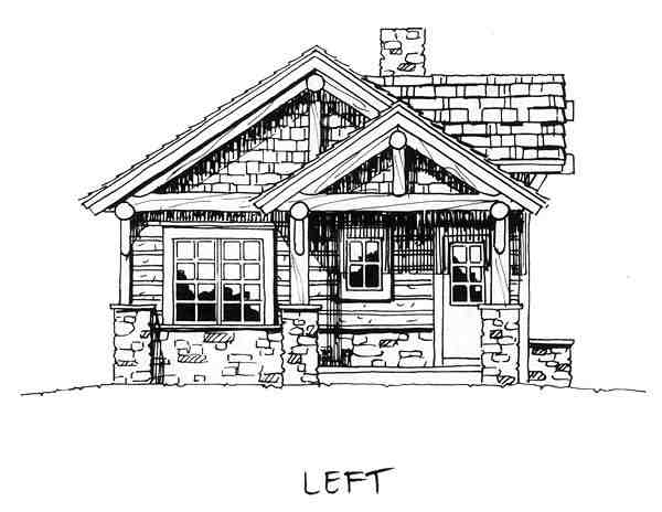 Cabin, Cottage, Craftsman House Plan 43204 with 2 Beds, 2 Baths Picture 6