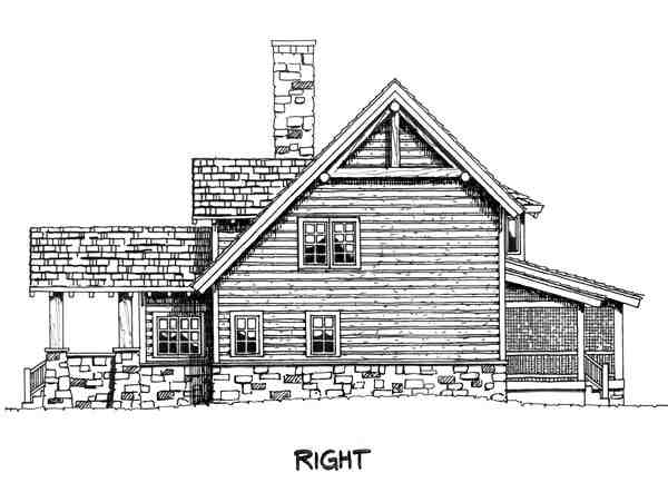 Cabin, Cape Cod, Country House Plan 43206 with 3 Beds, 3 Baths Picture 4