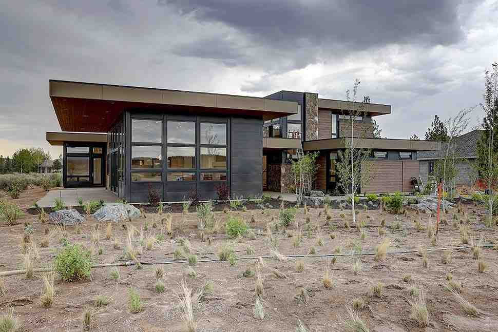 Contemporary House Plan 43331 with 4 Beds, 5 Baths, 3 Car Garage Picture 2