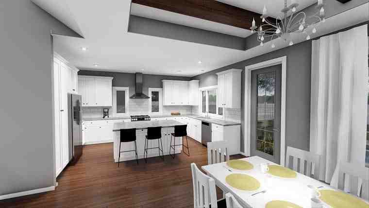 Cottage, European, Traditional House Plan 44184 with 3 Beds, 2 Baths, 2 Car Garage Picture 3