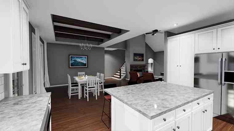Cottage, European, Traditional House Plan 44184 with 3 Beds, 2 Baths, 2 Car Garage Picture 4