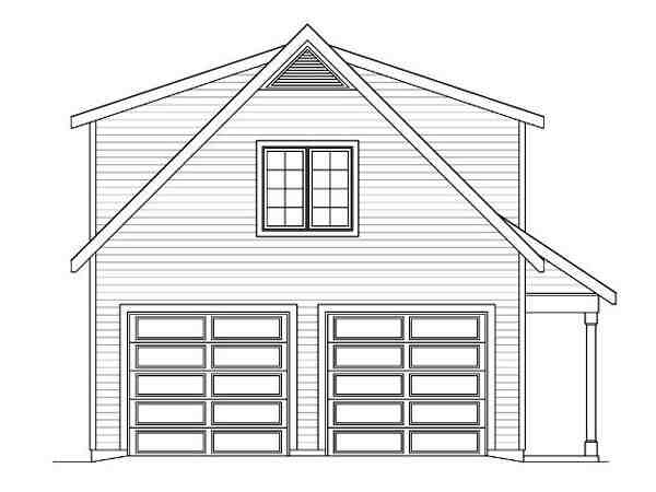 Country, Traditional 2 Car Garage Plan 45119 Picture 1