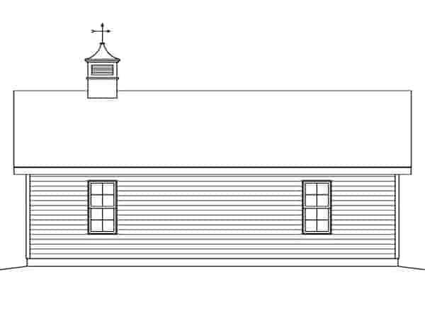 2 Car Garage Plan 45126 Rear Elevation