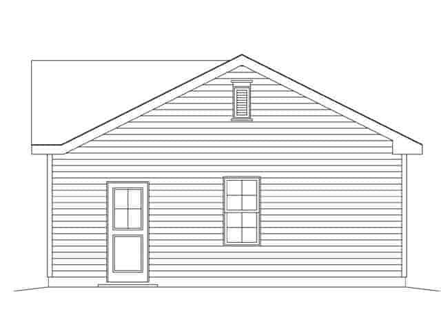 1 Car Garage Plan 45147 Picture 2