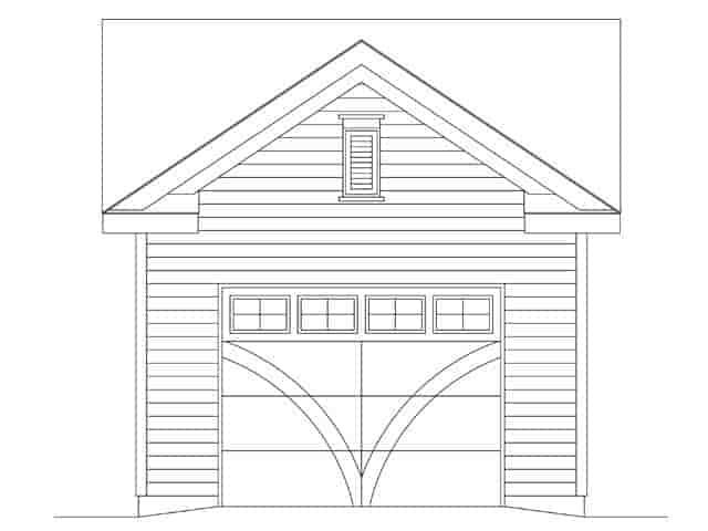 1 Car Garage Plan 45147 Picture 3