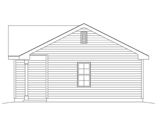 1 Car Garage Plan 45148 Picture 2