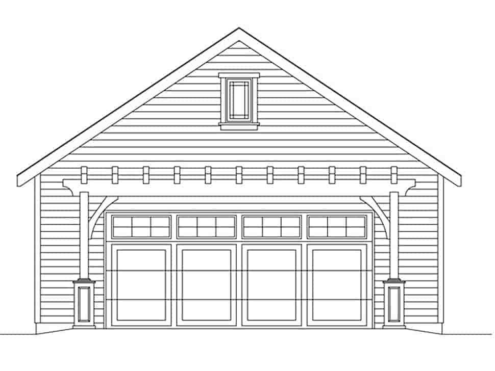 2 Car Garage Plan 45181 Picture 3