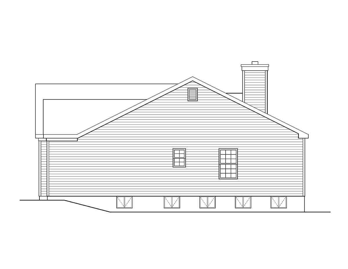 Ranch, Traditional House Plan 45198 with 3 Beds, 3 Baths, 2 Car Garage Picture 1