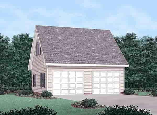 2 Car Garage Plan 45458 Elevation
