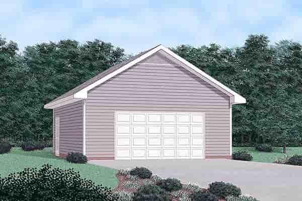 2 Car Garage Plan 45482 Elevation