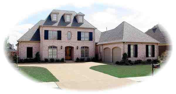 European, Traditional House Plan 48577 with 3 Beds, 5 Baths, 2 Car Garage Elevation