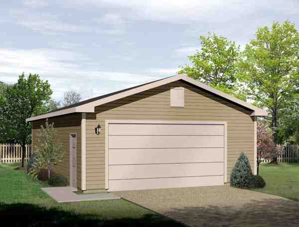2 Car Garage Plan 49067 Elevation
