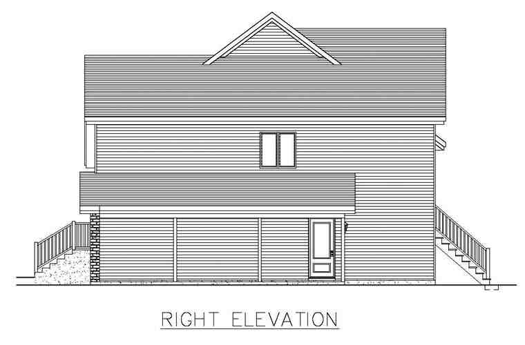 House Plan 50308 with 4 Beds, 2 Baths Picture 2