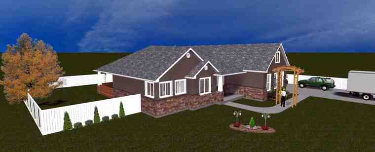 House Plan 50438 with 5 Beds, 3 Baths, 3 Car Garage Picture 9