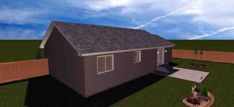 House Plan 50439 with 2 Beds, 1 Baths, 1 Car Garage Picture 11