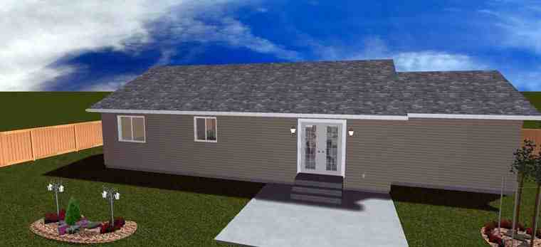 House Plan 50439 with 2 Beds, 1 Baths, 1 Car Garage Picture 8
