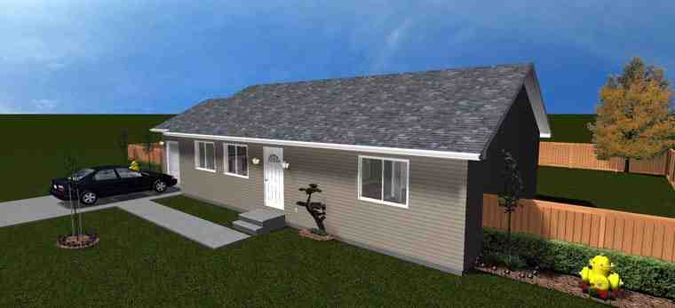 House Plan 50439 with 2 Beds, 1 Baths, 1 Car Garage Picture 9