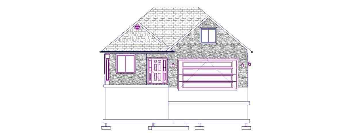 House Plan 50440 with 5 Beds, 3 Baths, 2 Car Garage Picture 3