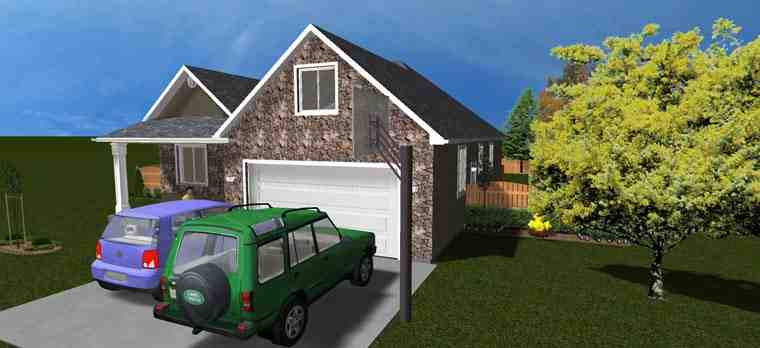 House Plan 50440 with 5 Beds, 3 Baths, 2 Car Garage Picture 4