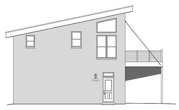 Contemporary, Modern Garage-Living Plan 51479 with 1 Beds, 1 Baths, 2 Car Garage Picture 1