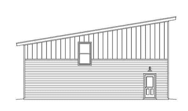 Contemporary, Modern 1 Car Garage Plan 51548 Picture 1