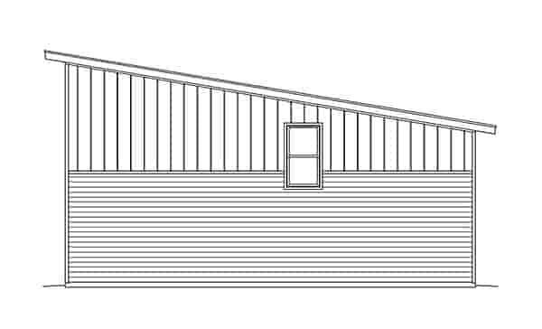 Contemporary, Modern 1 Car Garage Plan 51548 Picture 2