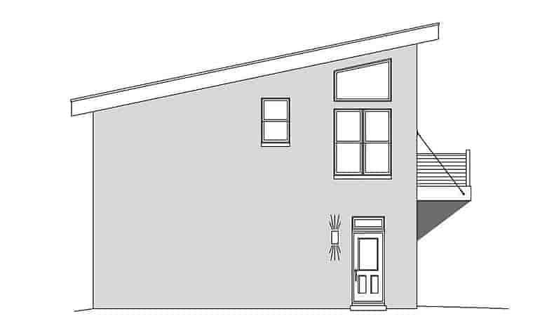 Coastal, Contemporary, Modern Garage-Living Plan 51589 with 1 Beds, 2 Baths, 3 Car Garage Picture 2