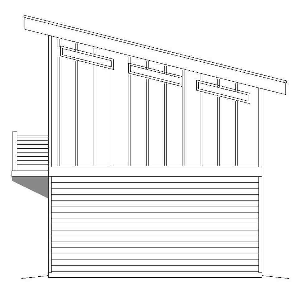 Coastal, Contemporary, Modern 1 Car Garage Apartment Plan 51609 Picture 1