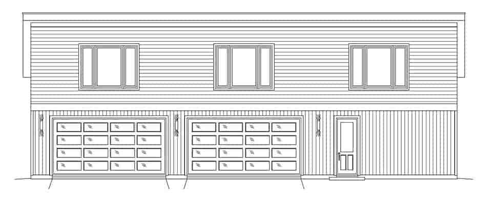 Contemporary, Modern 3 Car Garage Plan 51625 Picture 3
