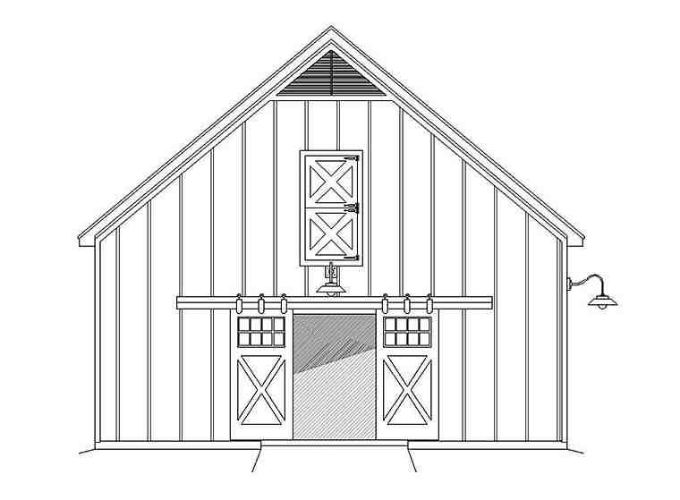 Country, Southern 2 Car Garage Plan 51649 Picture 2