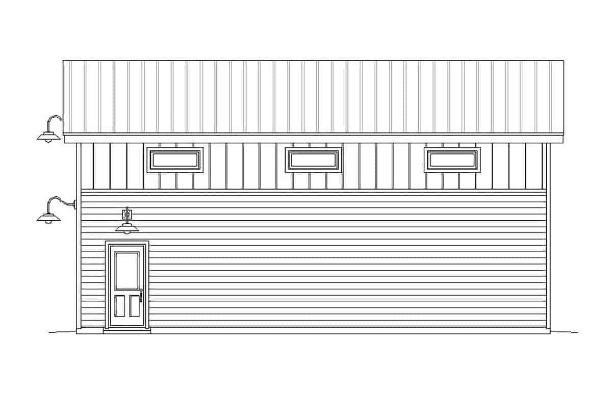 Contemporary, Modern 4 Car Garage Plan 51671, RV Storage Picture 1
