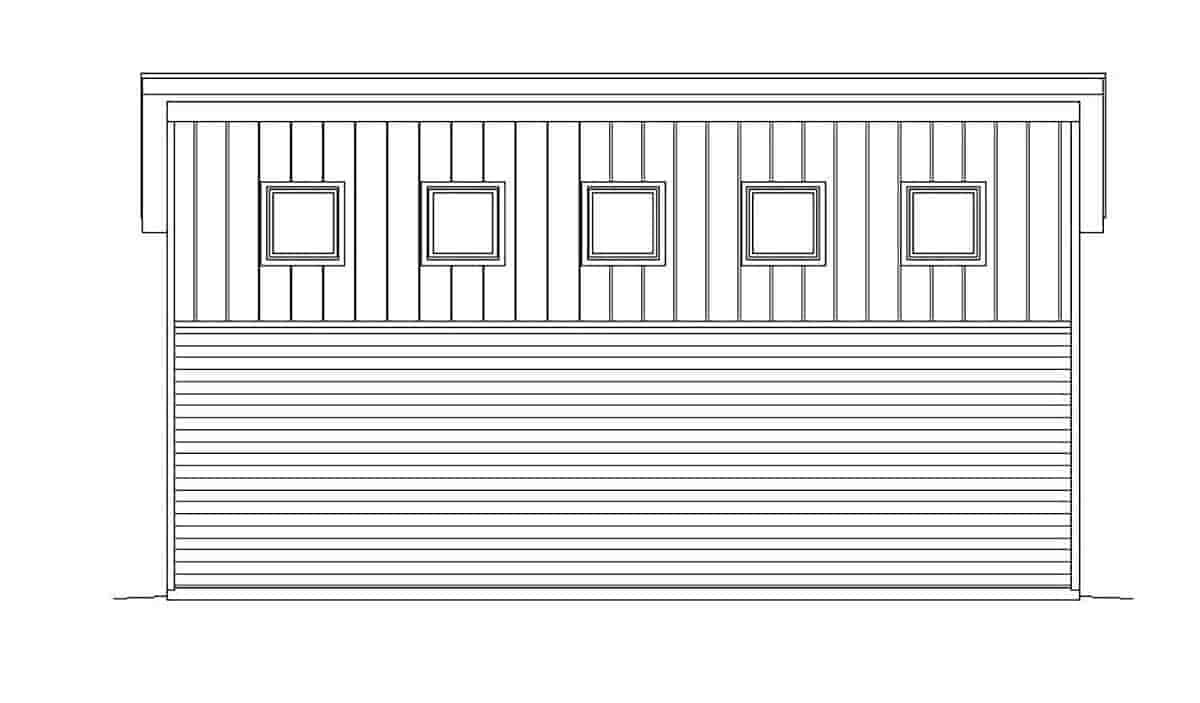 Contemporary, Modern 4 Car Garage Plan 51671, RV Storage Picture 2