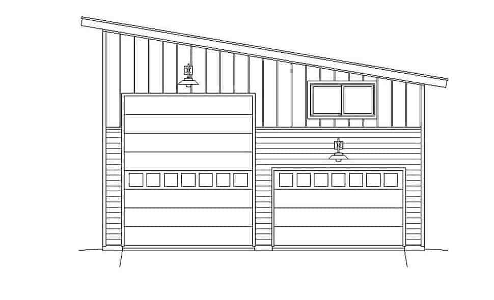 Contemporary, Modern 4 Car Garage Plan 51671, RV Storage Picture 3