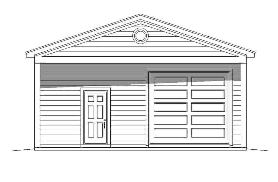 Bungalow, Cape Cod, Coastal, Colonial, Cottage, Country, Craftsman, Farmhouse, Prairie, Ranch, Saltbox, Traditional, Tudor 3 Car Garage Plan 51673 Picture 3