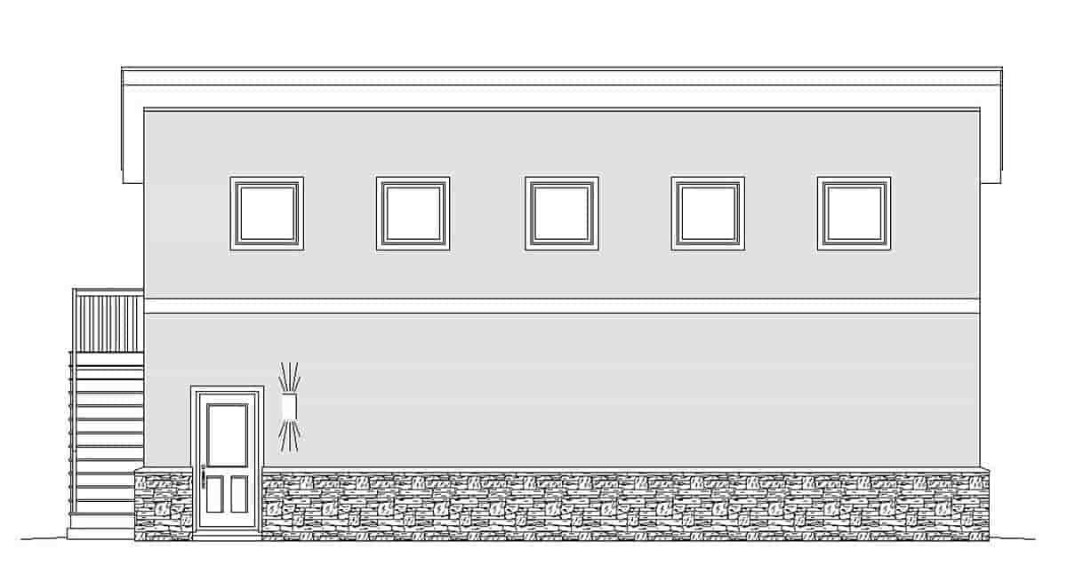 Contemporary, Modern 2 Car Garage Plan 51674, RV Storage Picture 2
