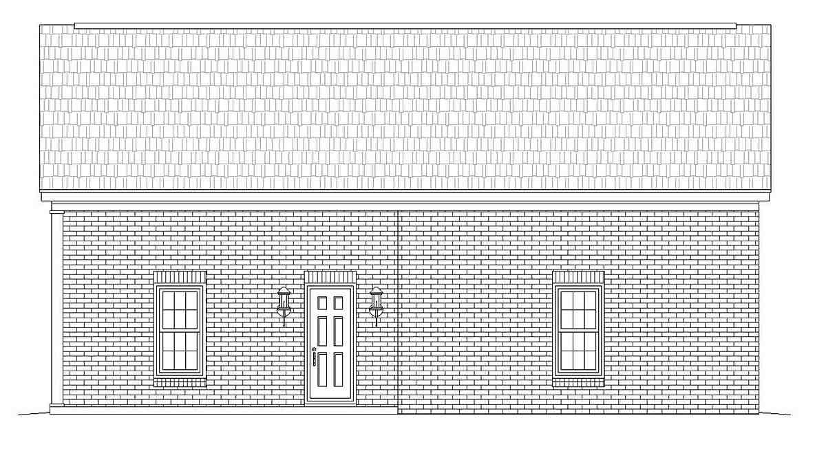 Colonial, European, Ranch, Traditional 2 Car Garage Plan 51683 Picture 1