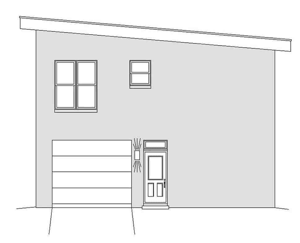 Coastal, Contemporary, Modern Garage-Living Plan 51695 with 1 Beds, 2 Baths, 3 Car Garage Picture 1