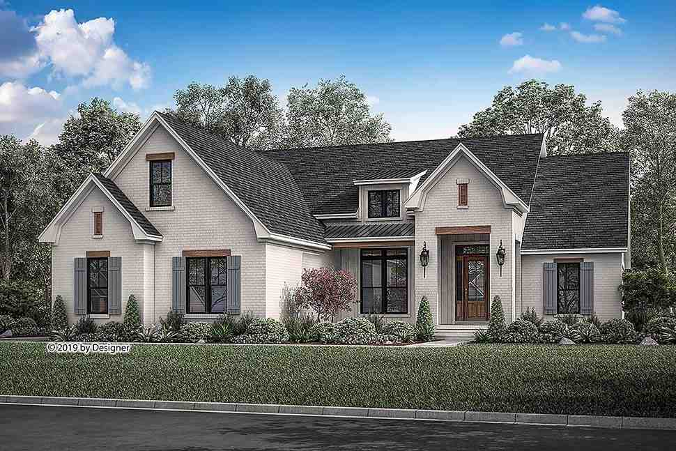 Country, European, Traditional House Plan 51986 with 3 Beds, 2 Baths, 2 Car Garage Elevation