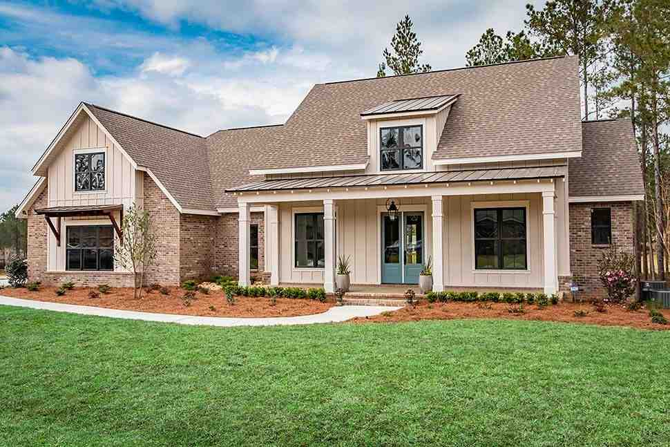 Cottage, Country, Farmhouse, Southern House Plan 51988 with 3 Beds, 3 Baths, 2 Car Garage Picture 1