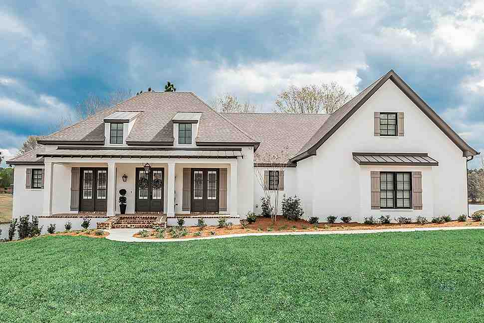 European, French Country, Ranch, Southern House Plan 51989 with 3 Beds, 2 Baths, 3 Car Garage Elevation