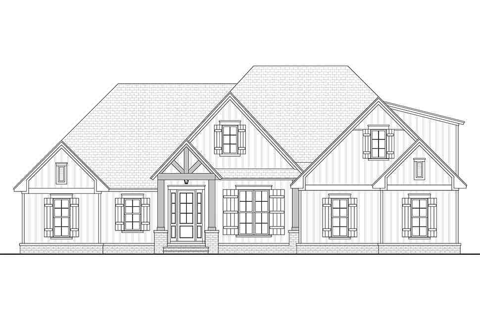 Country, Craftsman, Farmhouse House Plan 51992 with 3 Beds, 3 Baths, 2 Car Garage Picture 3