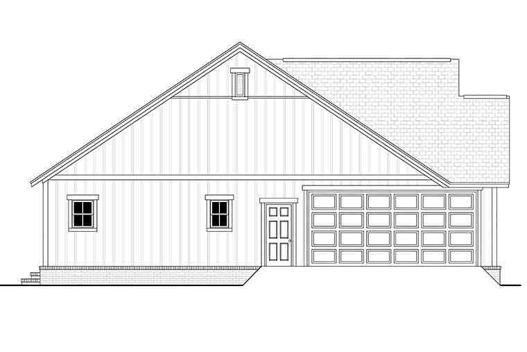 Country, Farmhouse, Southern, Traditional House Plan 51997 with 3 Beds, 2 Baths, 2 Car Garage Picture 2