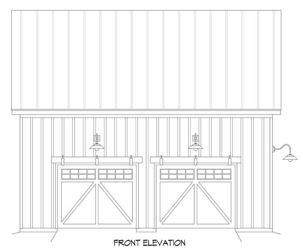 Country, Farmhouse, Traditional 2 Car Garage Plan 52158 Picture 3