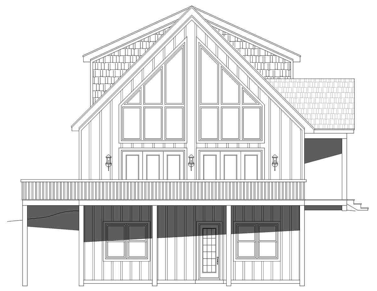 A-Frame, Contemporary House Plan 52164 with 4 Beds, 4 Baths Picture 2